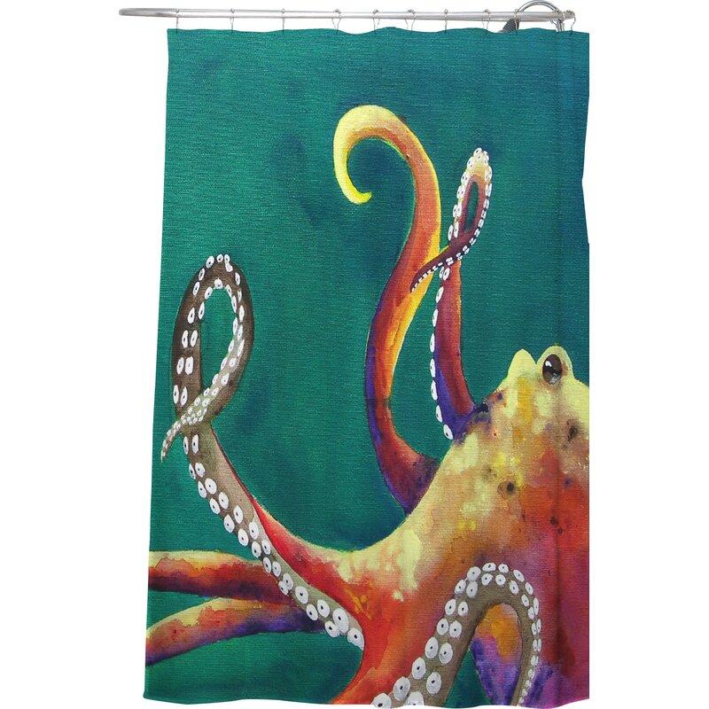 Deny Designs Clara Nilles Mardi Gras Octopus Extra Long Shower ...