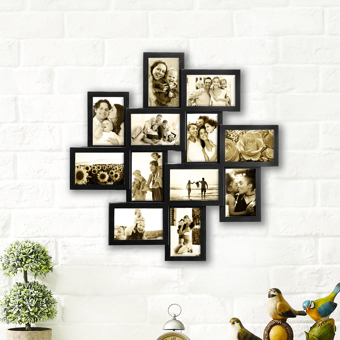 Winston Porter Germain Gallery Collage Wall Hanging 12 Opening Photo Sockets Picture Frame Set Reviews Wayfair