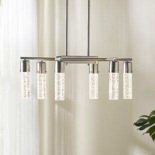 Indoor wall light fixtures wayfair lumberton indoor 6 light shaded chandelier aloadofball Choice Image