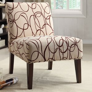 Fabric Slipper Chair by A&J Homes Studio