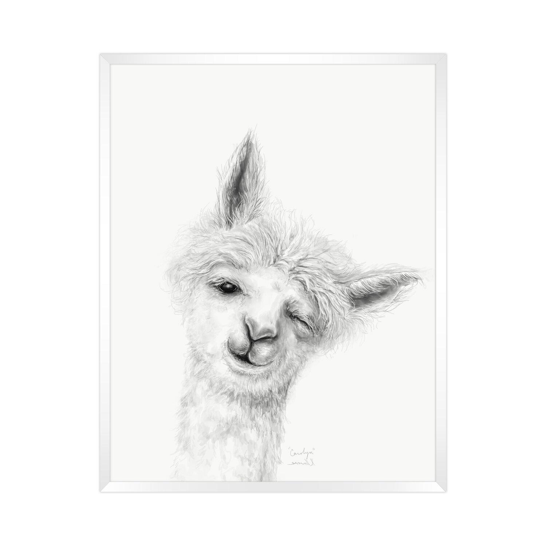 Harriet Bee  Llama Draw You a Portrait - Carolyn  Framed Paper Print ... ceab835e8c40