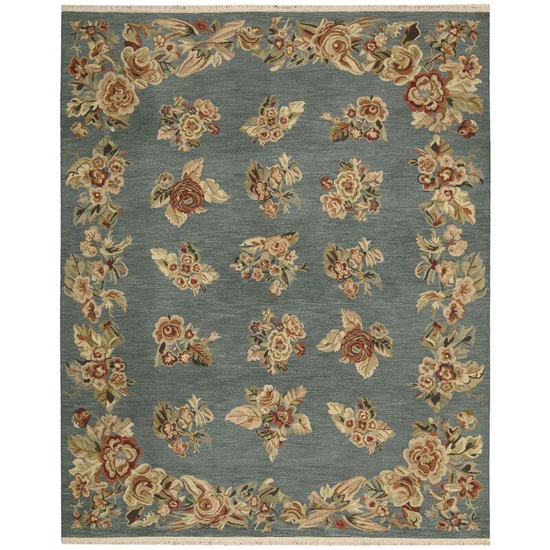 9 X 12 Nourison Nourmak Hand Knotted 100 Wool Persian: Nourison Nourmak Encore Hand-Woven Blue Area Rug