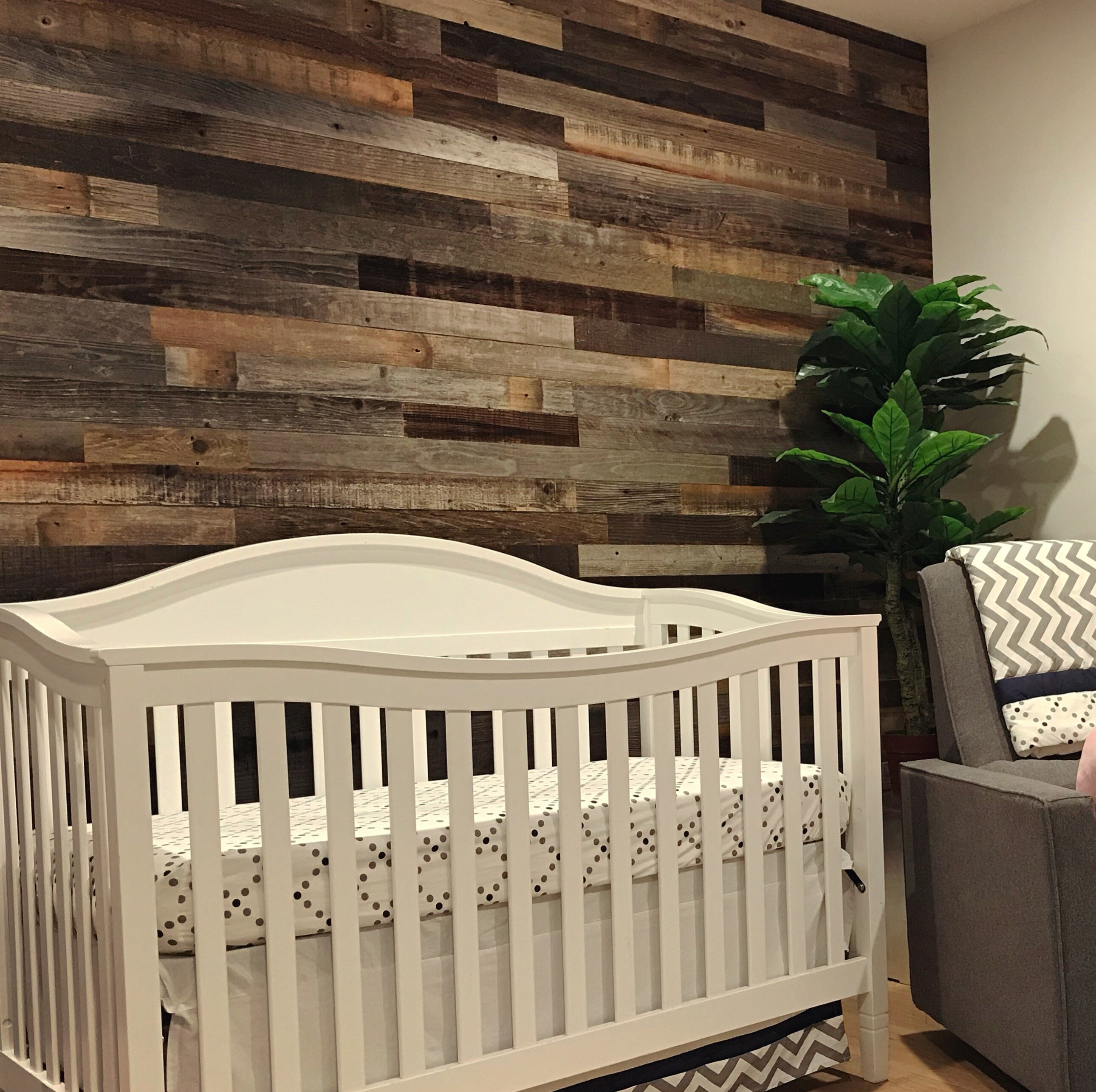 . 3  Reclaimed Peel and Stick Solid Wood Wall Paneling
