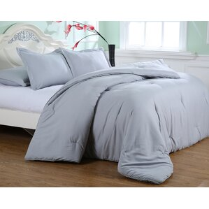 Modern Gray Silver Bedding Sets AllModern - Blue and grey comforter sets queen