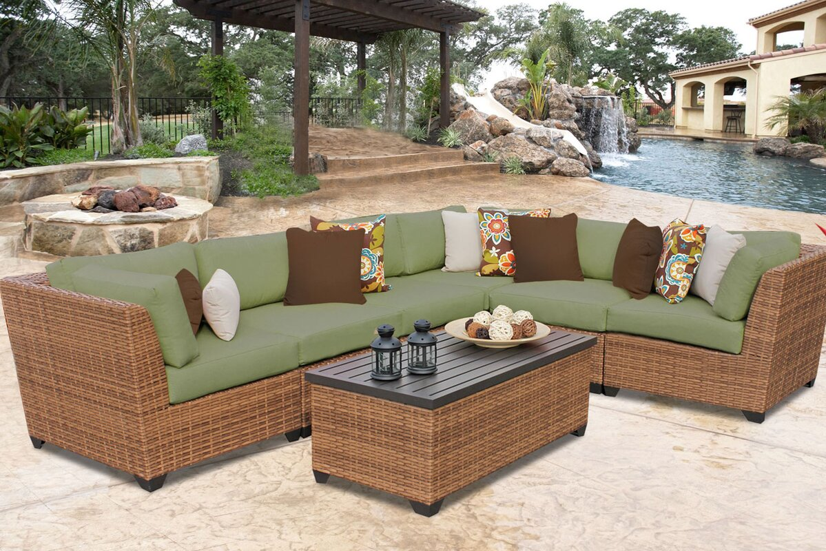 Laguna 7 Piece Sectional Set With Cushions