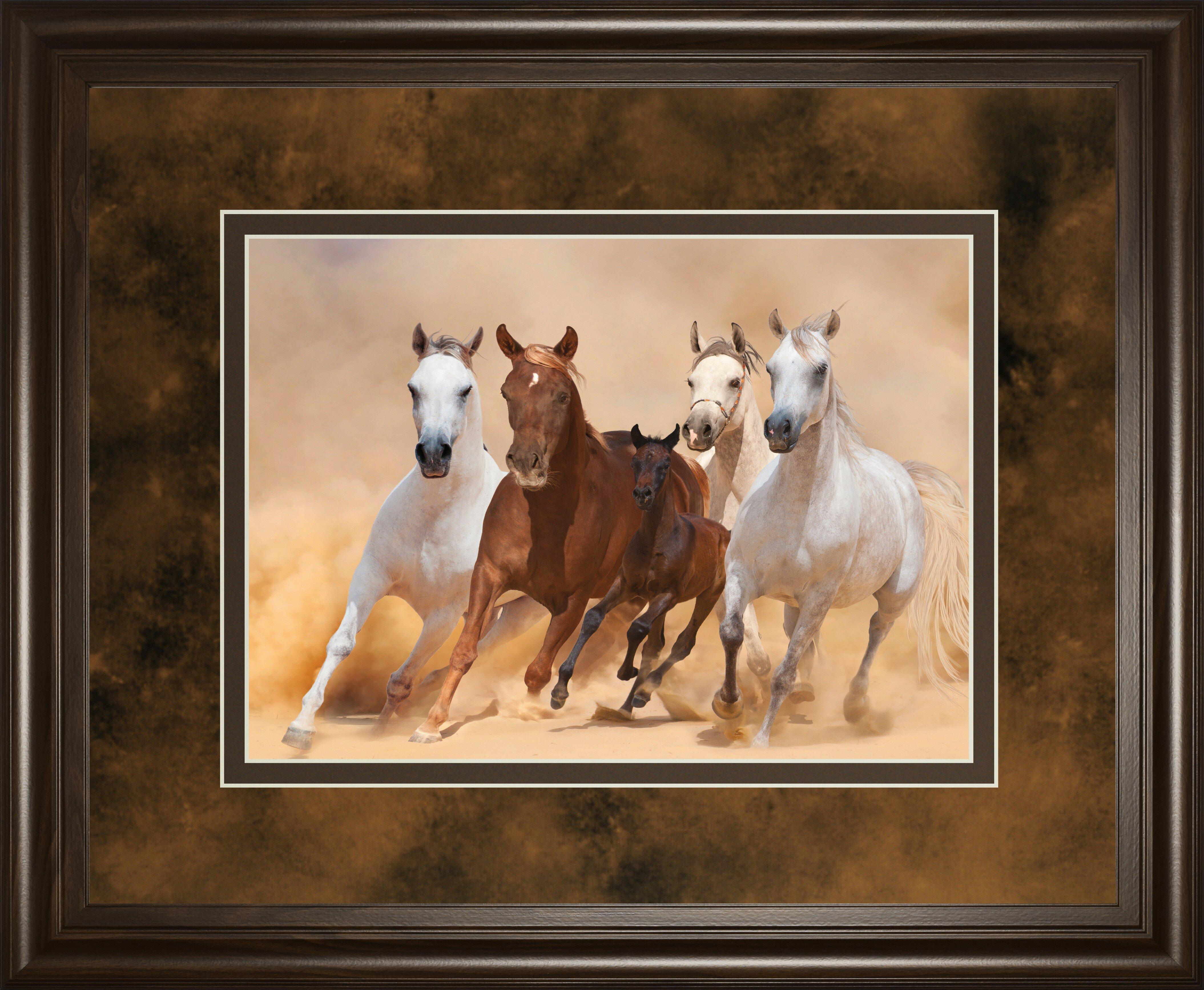 ClassyArtWholesalers Horses in Dust by Loya_Ya Framed Photographic ...