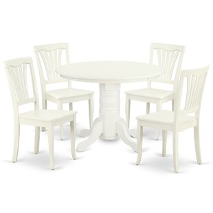Kuster 5 Piece Solid Wood Dining Set