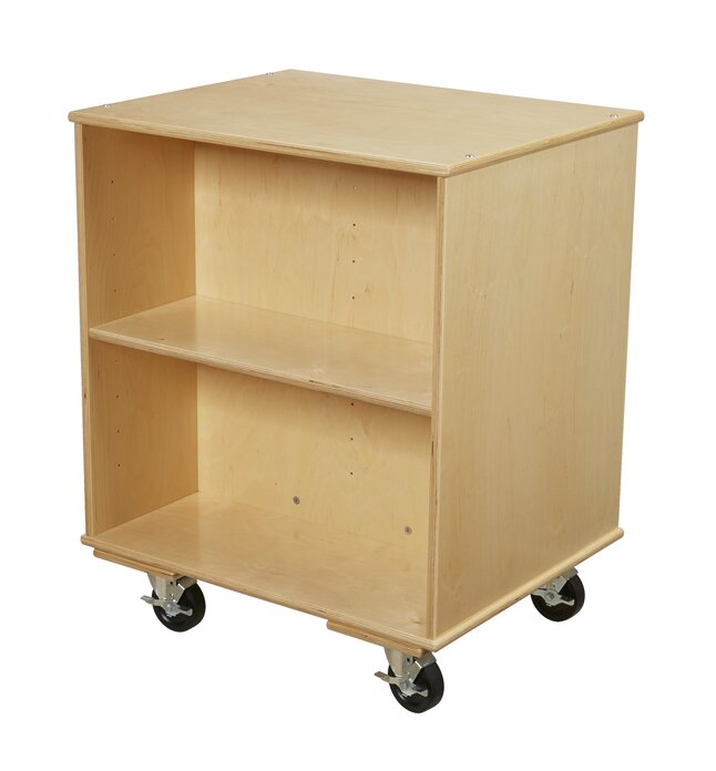 Storage Portable 2 Bookshelf With Caster
