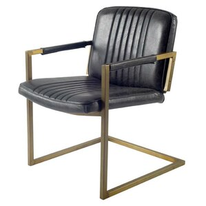 Ariana Cantilever Genuine Leather Upholstered Dining Chair by 17 Stories