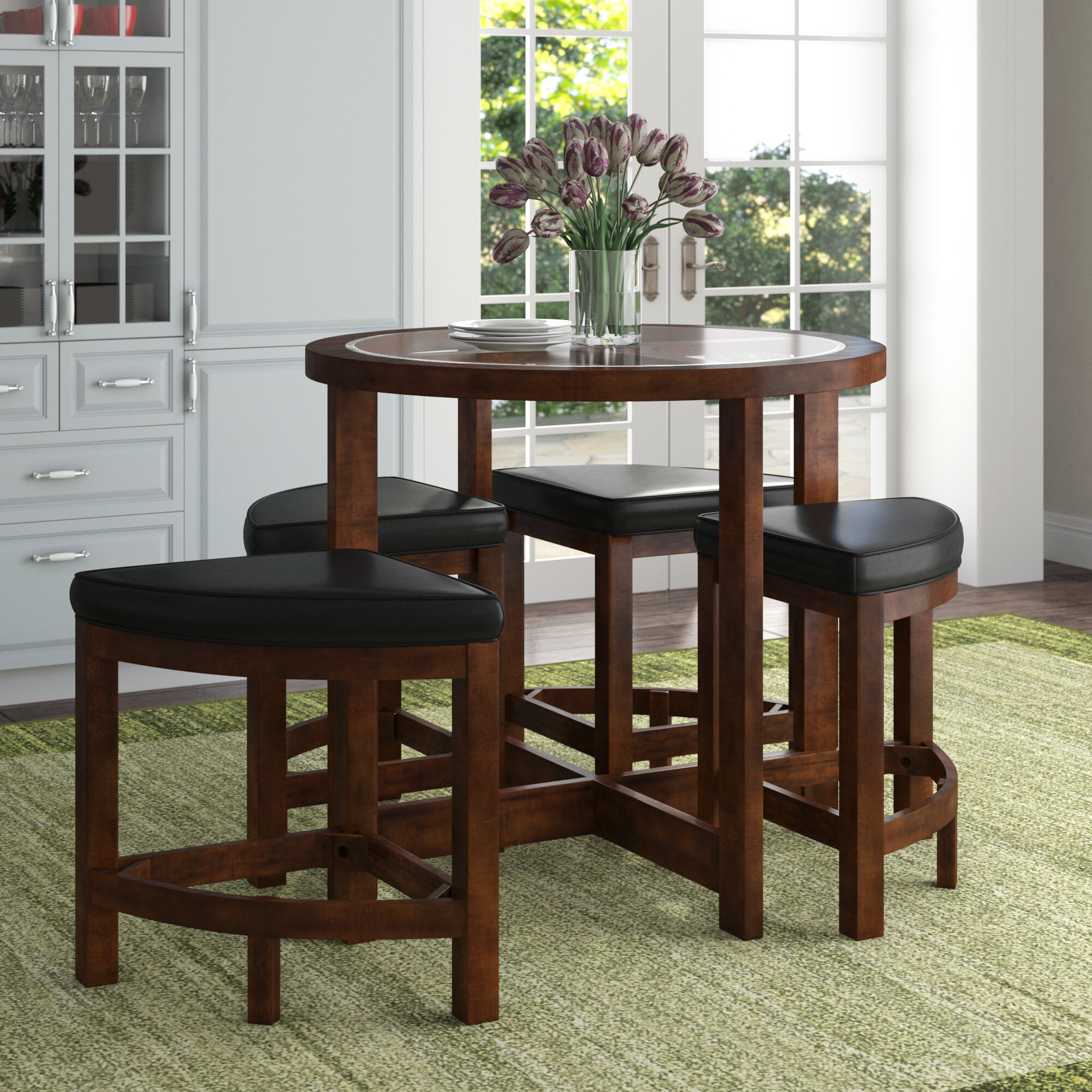 Red Barrel Studio Jinie 5 Piece Pub Table Set Reviews Wayfair