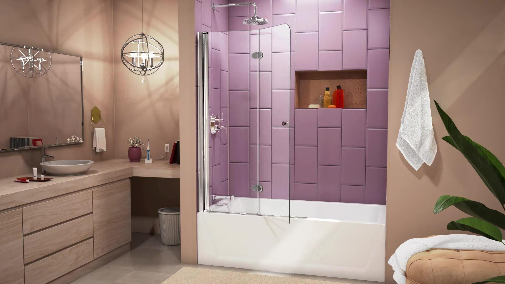Dreamline Aqua Fold 33 5 Quot X 72 Quot Hinged Shower Door