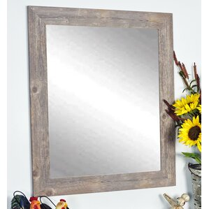 Barnwood Framed Bathroom Mirrors rustic wall mirrors you'll love | wayfair