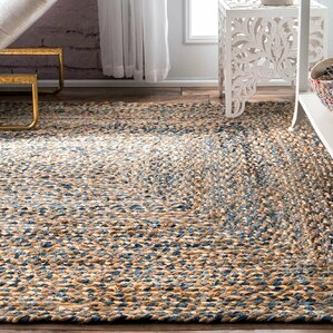 destrie handbraided blue area rug