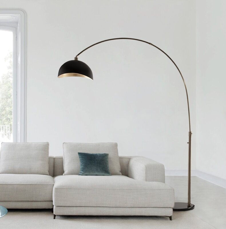 Corrigan studio channell 92 arched floor lamp reviews wayfair channell 92 arched floor lamp mozeypictures Choice Image