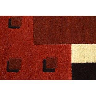 Florida Handwoven Wool Orange Rug by Theko