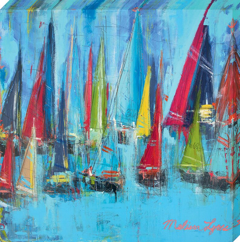 artistic reflections setting sails by melissa lyons painting print