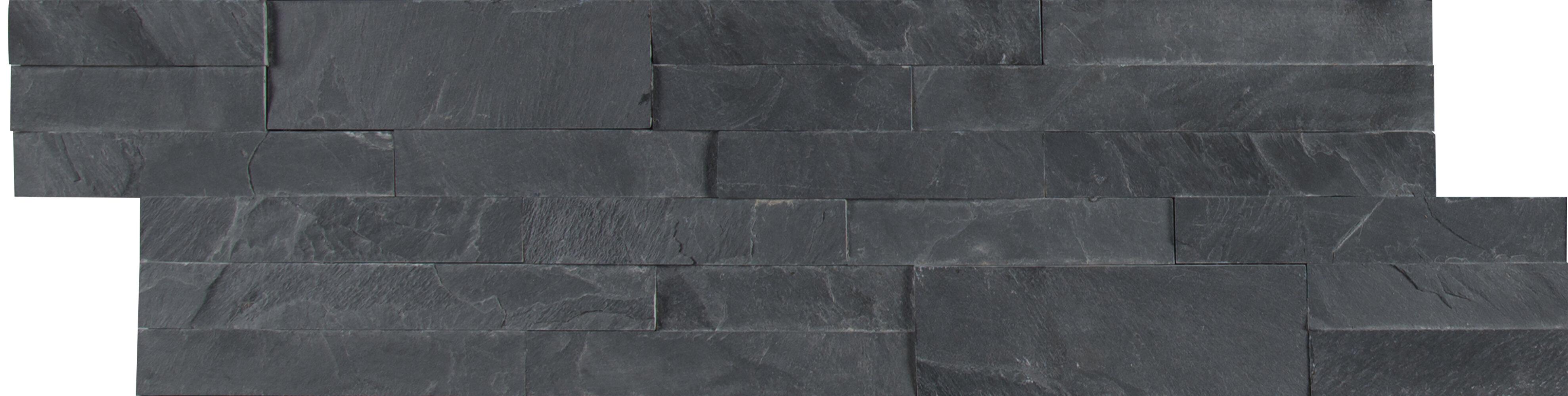 Msi Midnight Ash Veneer L And Stick Natural Slate Subway Tile In Black Wayfair