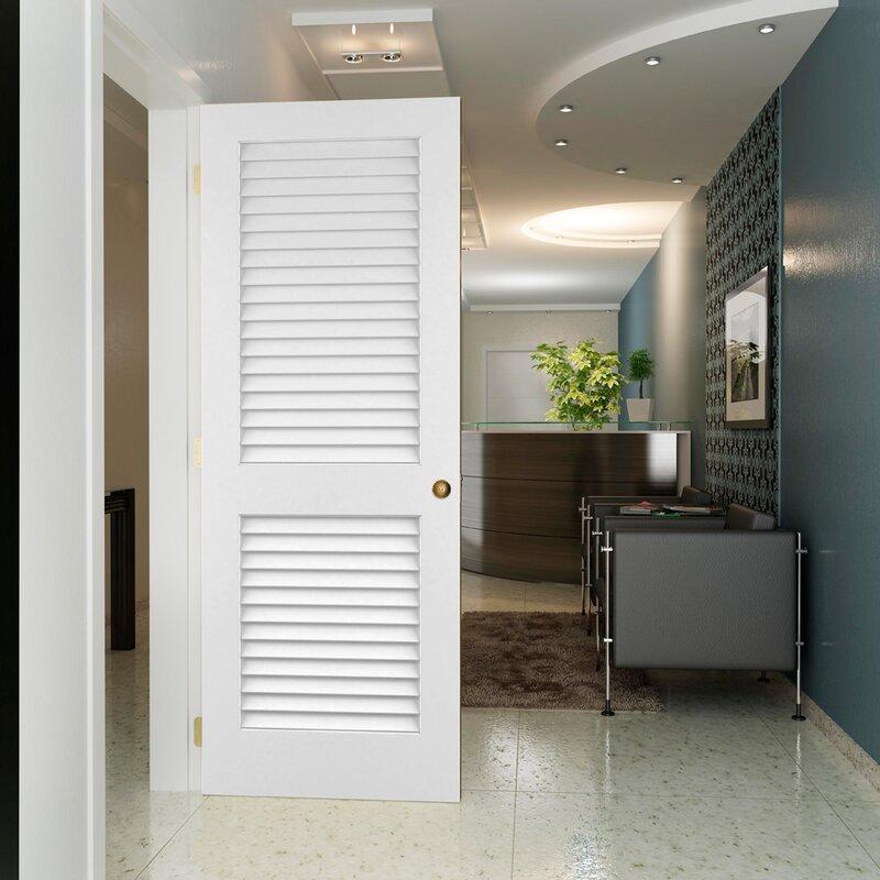 Wonderful Solid Pine Louvered Slab Interior Door