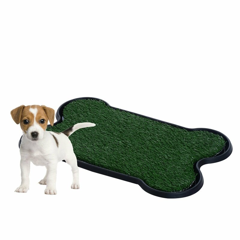Pawhut Indoor Dog Toilet Training Mat in Green and Black & Reviews ...