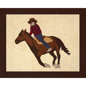Wild West Cowboy Floor Brown/Beige Area Rug