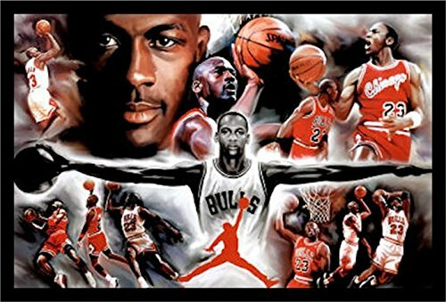254c03f0555 Buy Art For Less 'Michael Jordan - Collage Open Arms' Framed Photographic  Print & Reviews | Wayfair