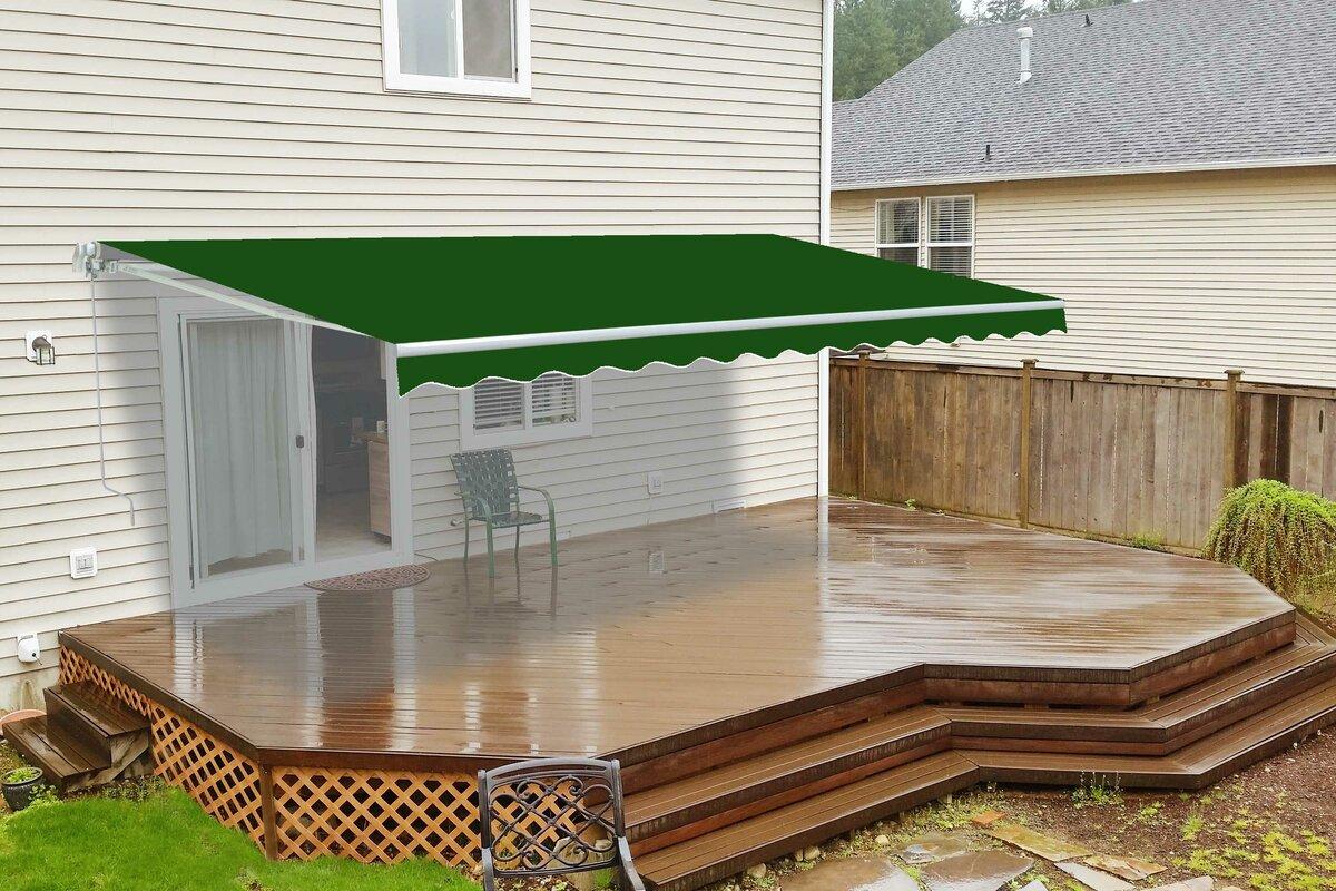 aleko 10 ft w x 8 ft d retractable patio awning reviews wayfair