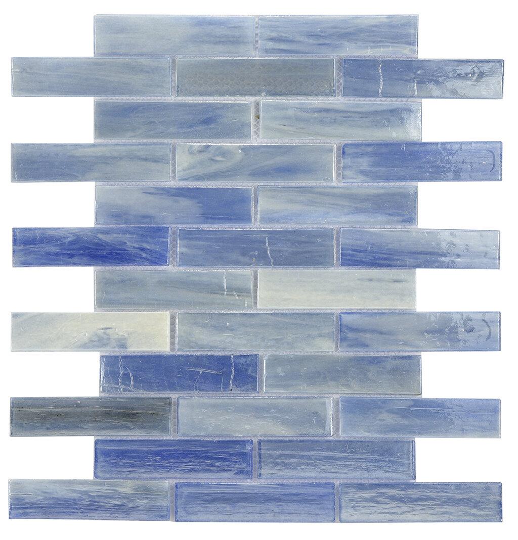 Byzantin Mosaic Laguna Glass Mosaic Tile in Blue | Wayfair