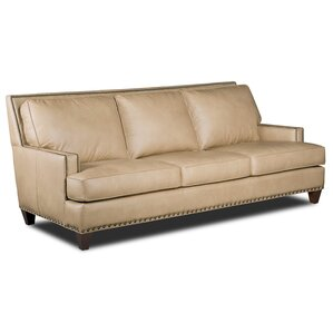 Aspen Regis Stationary Genuine Leather Sofa by Hooker Furniture