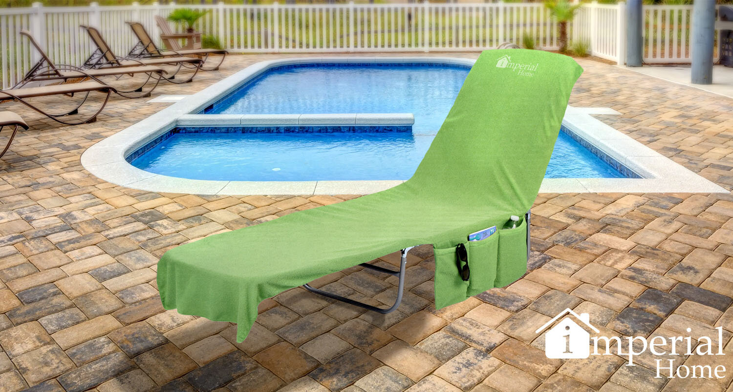 Freeport park 2 in 1 terry cloth chaise pool lounge cover beach towel and tote with pockets reviews wayfair