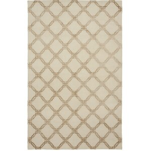 Broadway Hand-Knotted Beige Area Rug