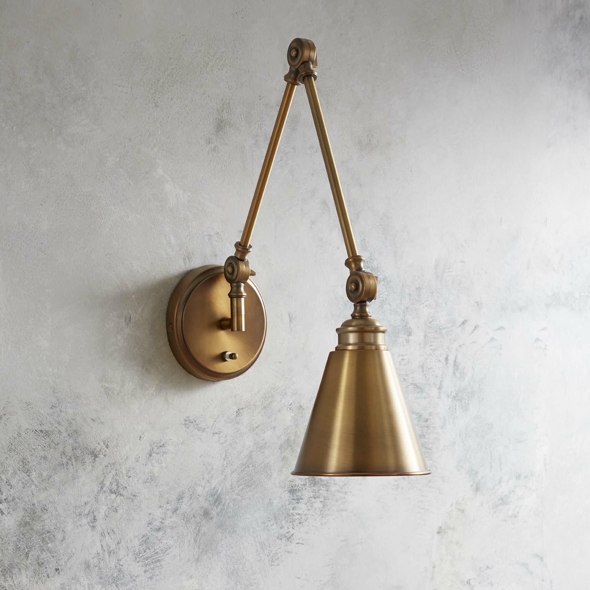 Waucoba 1 light swing arm lamp