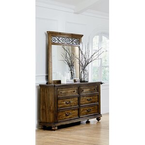 Golston 6 Drawer Dresser with Mirror by Three Posts