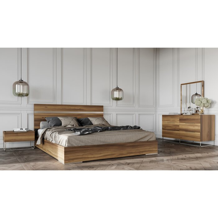 Kingon Platform 5 Piece Bedroom Set