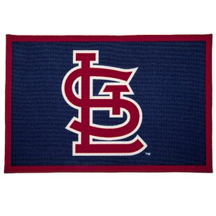 Mlb St Louis Cardinals Red Blue Area Rug
