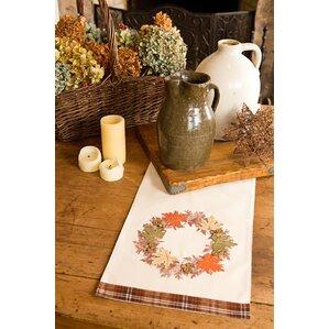 Maple Wreath Fall Table Runner