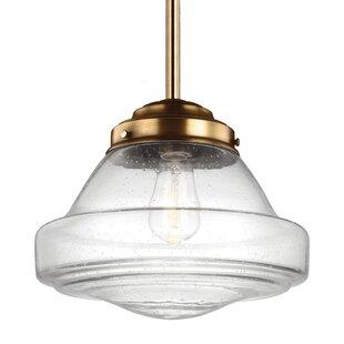 Modern schoolhouse pendant lighting allmodern varun 1 light 75w metal schoolhouse pendant aloadofball Gallery