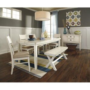 Glenbrook Rectangular Dining Table by Rosecliff Heights