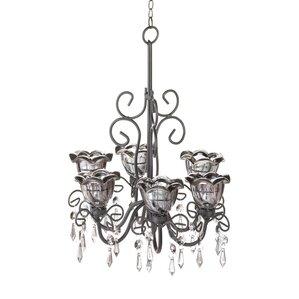 nola 6light shaded chandelier