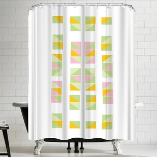 Ashlee Rae Mustard Tracks Shower Curtain