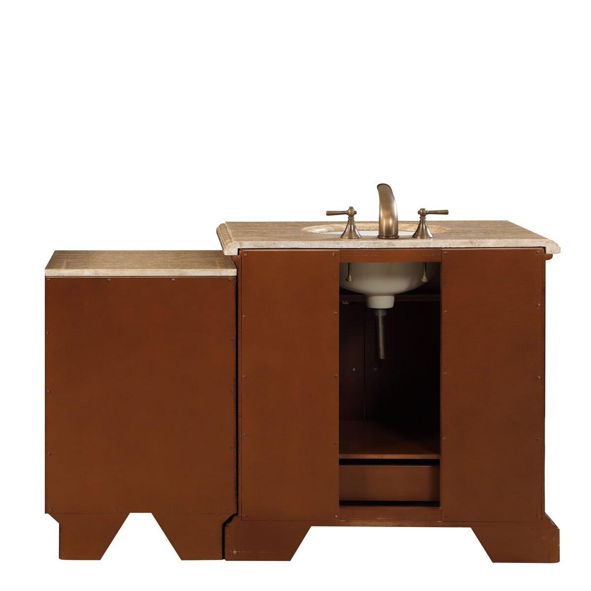 Silkroad Exclusive 55 5 Single Sink Bathroom Modular Vanity Set Reviews Wayfair Supply