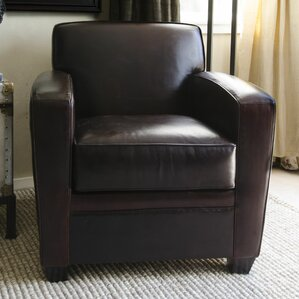 Dexter Top Grain Leather Club Chair by Elements Fine Home Furnishings