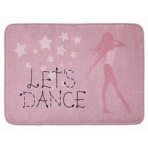 Let's Dance Linen Memory Foam Bath Rug