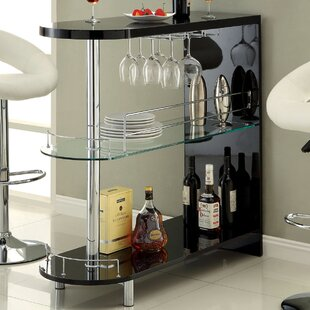 Holla Lacquer Bar with Wine Storage