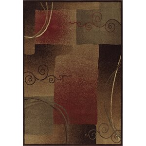 Capri Rust / Grey Area Rug