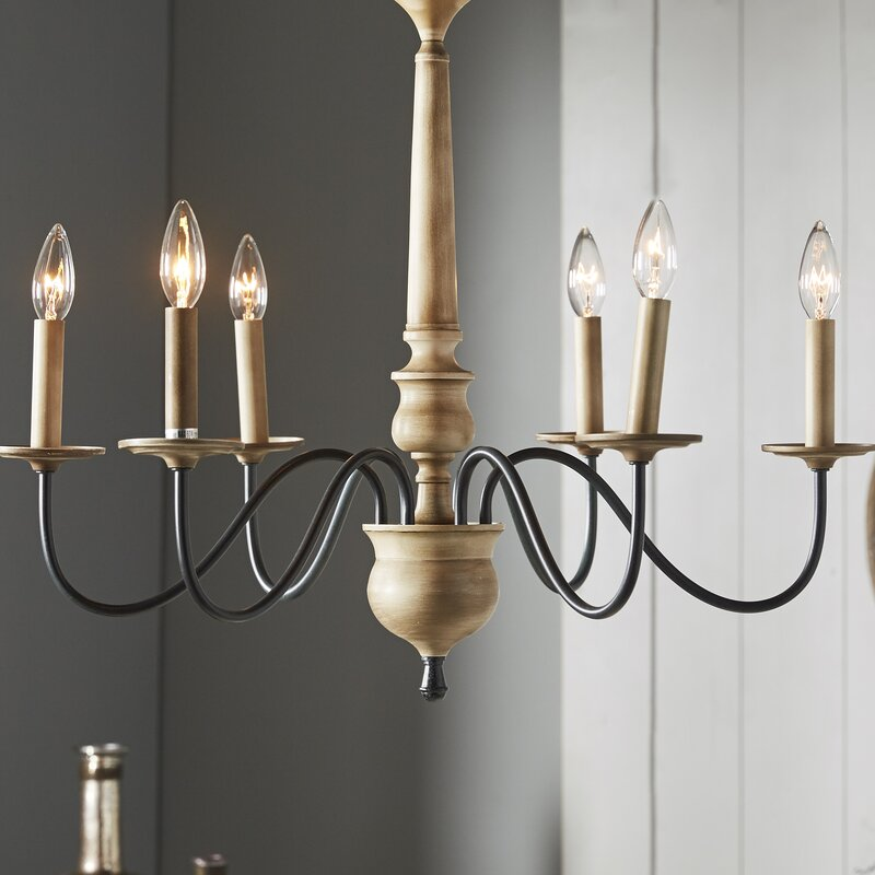 Birch Lane Edson 6 Light Candle Style Chandelier