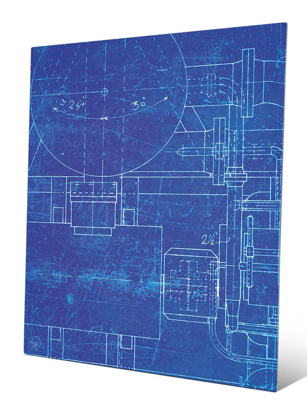 Click wall art industrial blueprint graphic art reviews wayfair industrial blueprint graphic art malvernweather Gallery