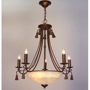 Rope and Tassel 8-Light Candle-Style Chandelier