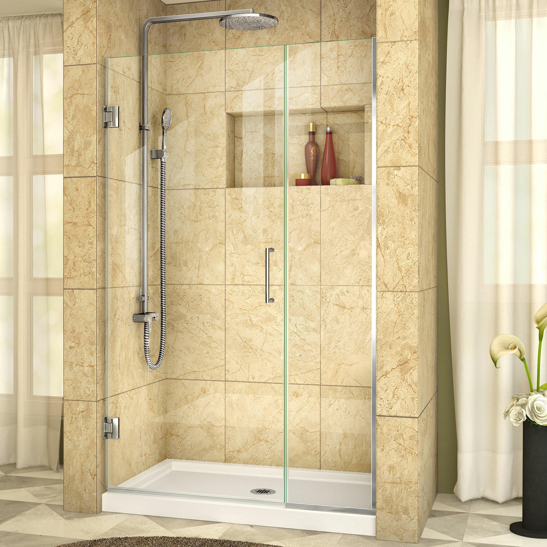 Dreamline Unidoor Plus 405 X 72 Hinged Frameless Shower Door With