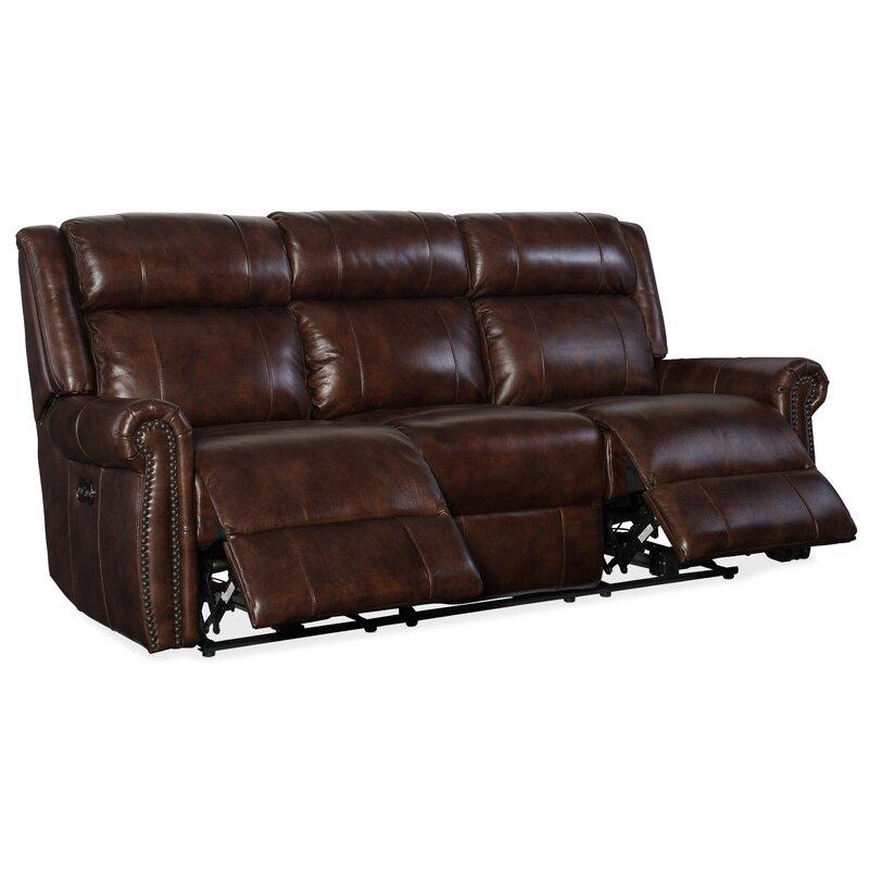 Esme Genuine Leather Reclining Sofa