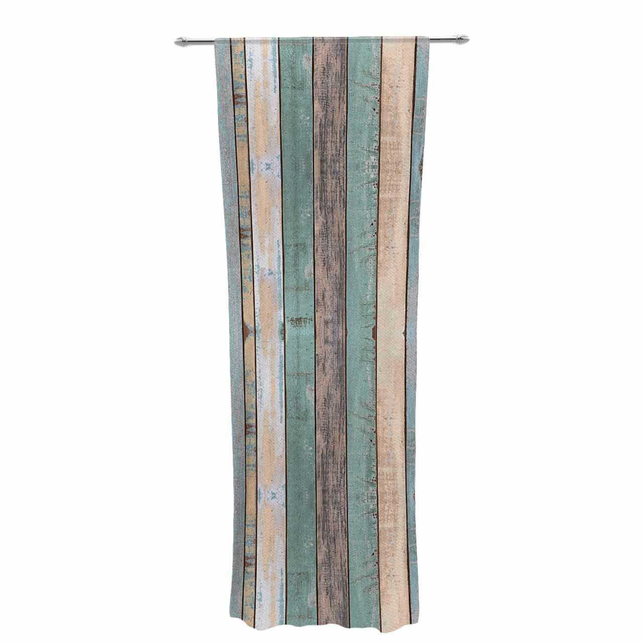 East Urban Home Susan Sanders Coastal Beach Wood Photography Decorative Stripe Sheer Rod Pocket Curtain Panels Wayfair